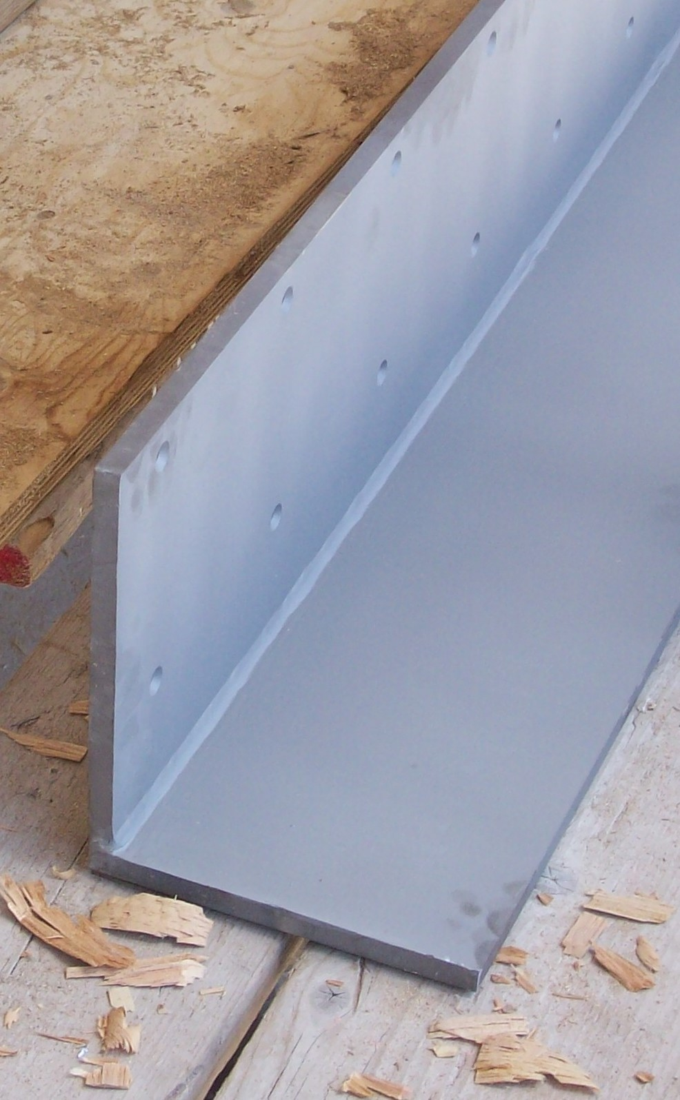 316 stainless steel curved angle bracket fabricated from plate