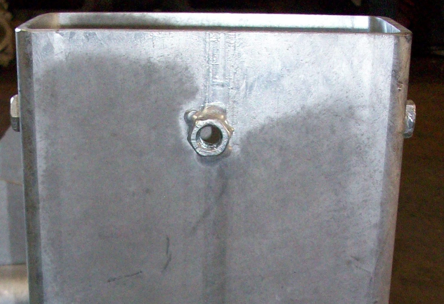 Galvanised surface appearance on heavier section fabrications