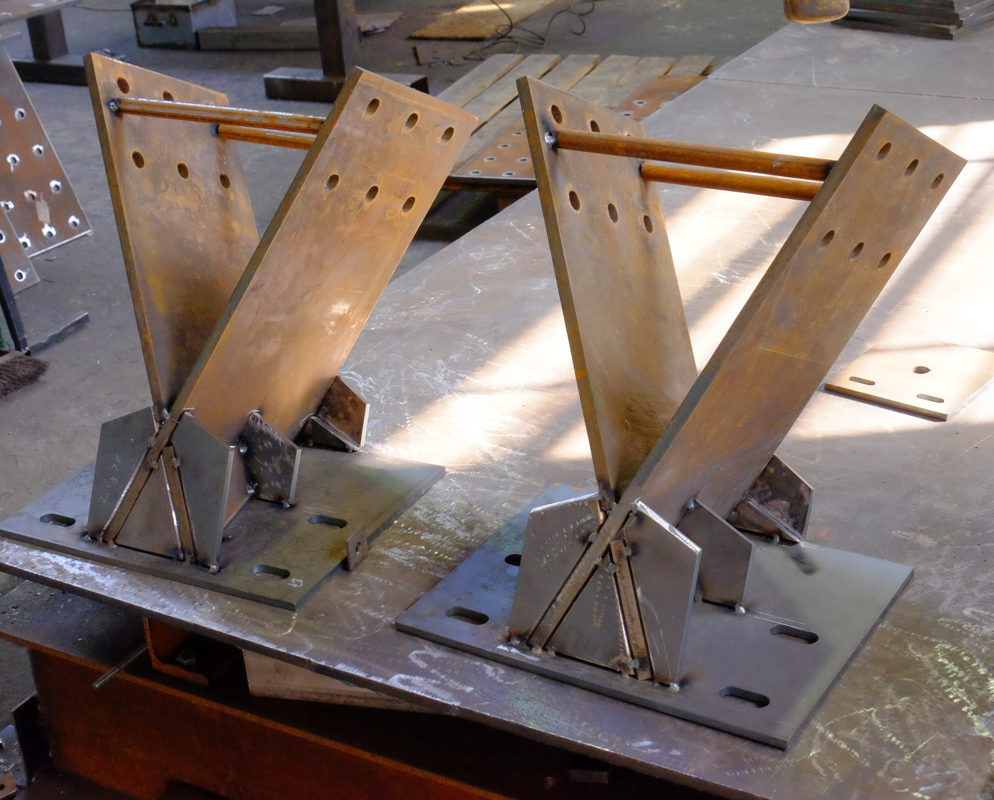 Tacked up fabrication awaiting welding